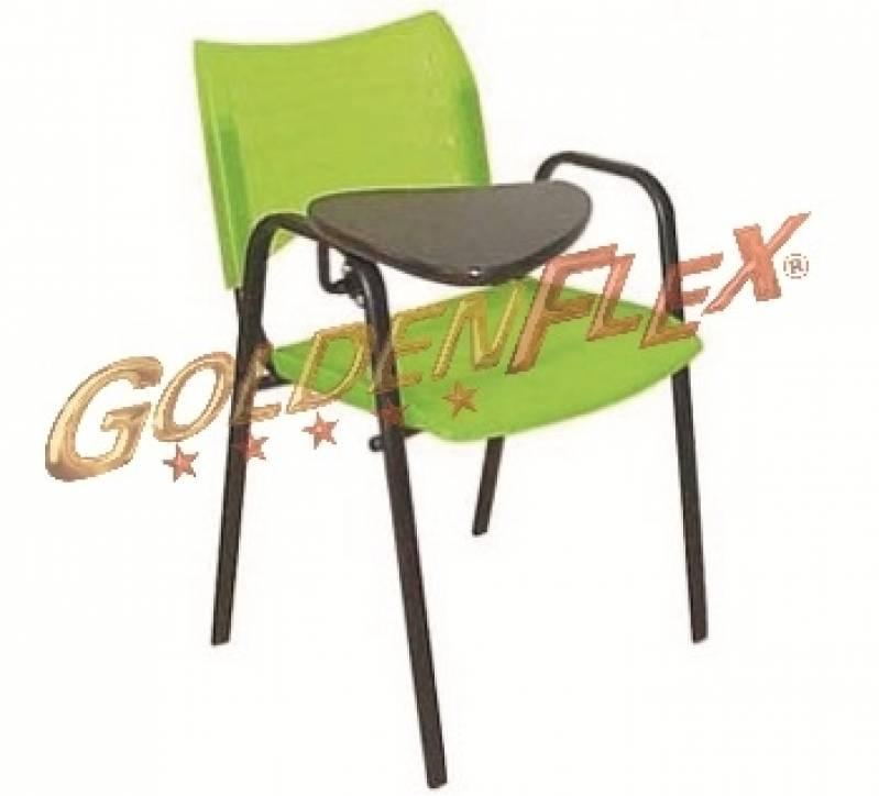 Cadeira para Auditório com Prancheta Escamoteável Valor Perus - Cadeira para Auditório com Braço