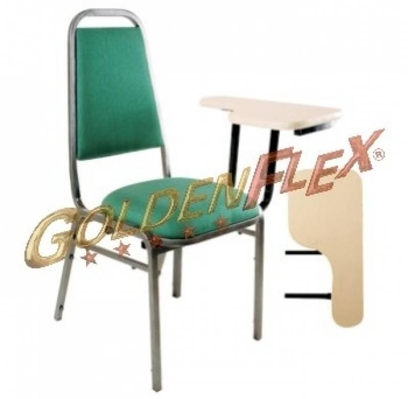 Cadeira para Auditório com Prancheta Preço Santa Cecília - Cadeira para Auditório com Braço