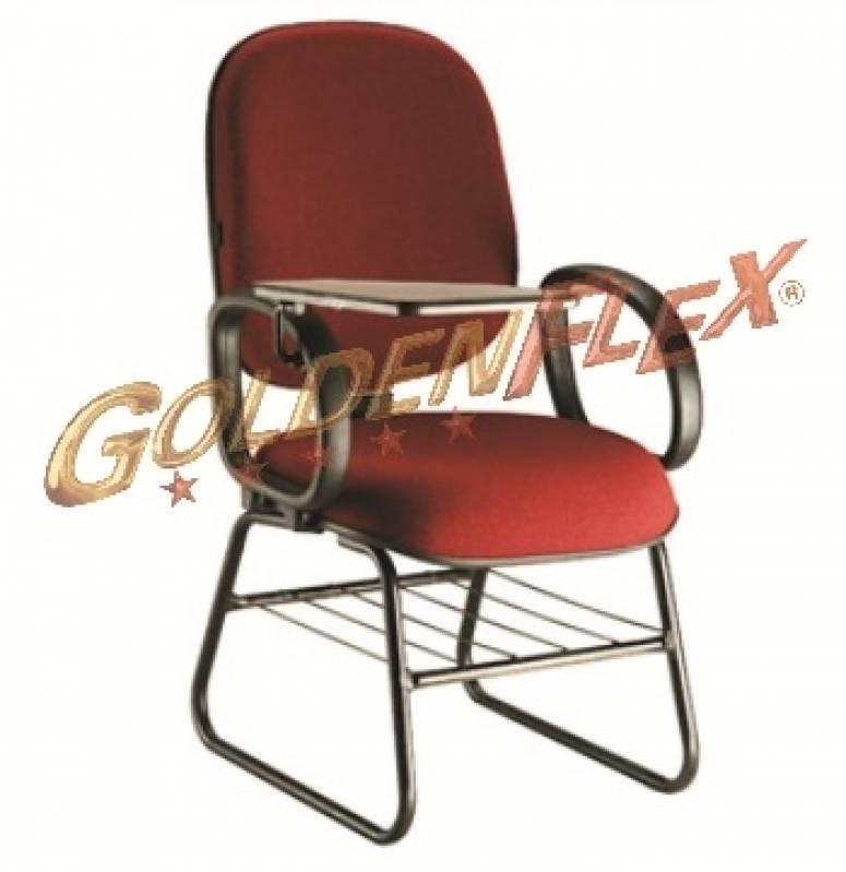 Onde Encontro Cadeira para Auditório com Prancheta Morumbi - Cadeira para Auditório com Braço