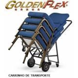 cadeira estofada empilhável Parque do Carmo