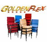 cadeira empilhável estofada para cassinos